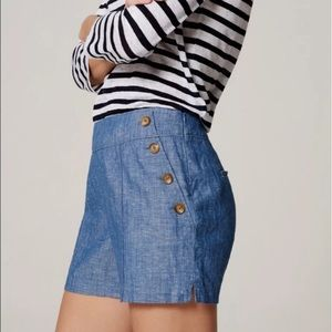 LOFT Sailor Button Chambray 'The Riviera Short'
